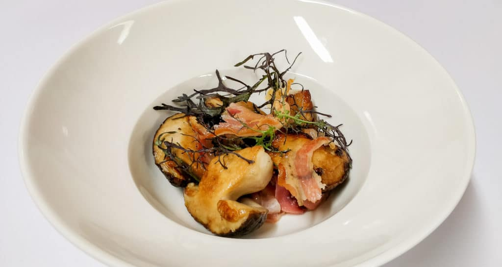 Bolets et pancetta