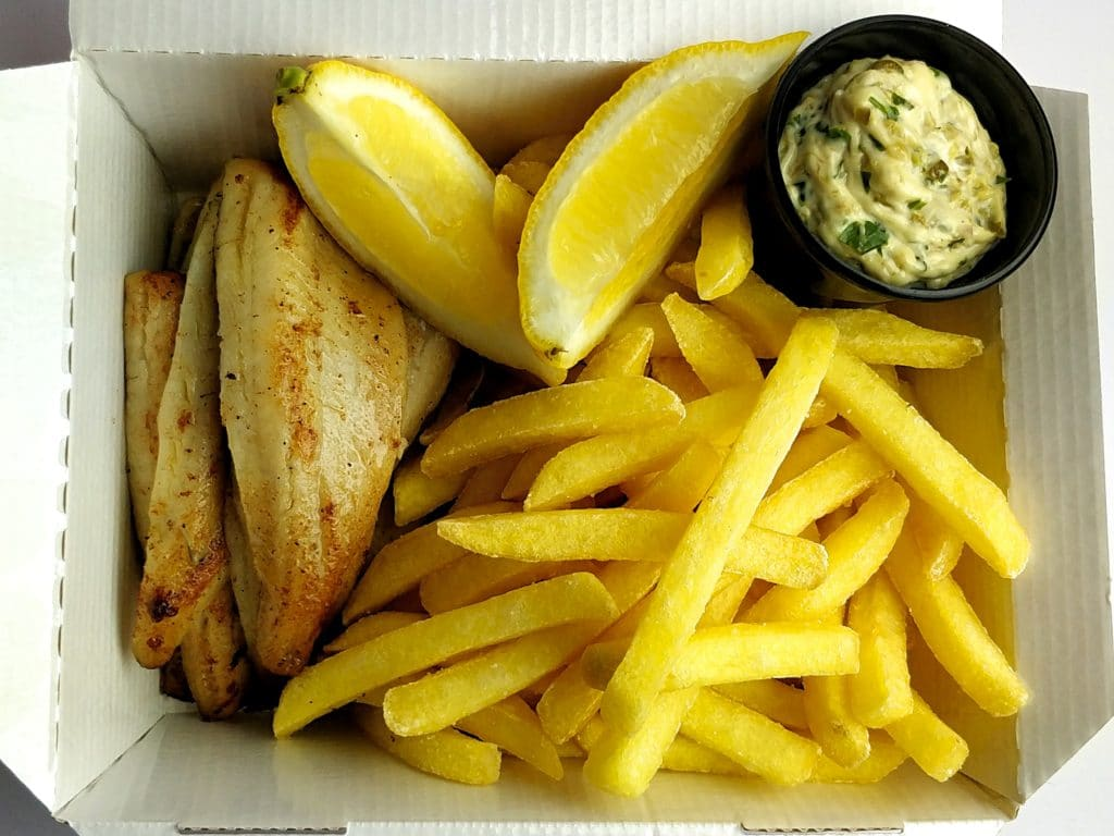 Filets de perches frites en click and collect